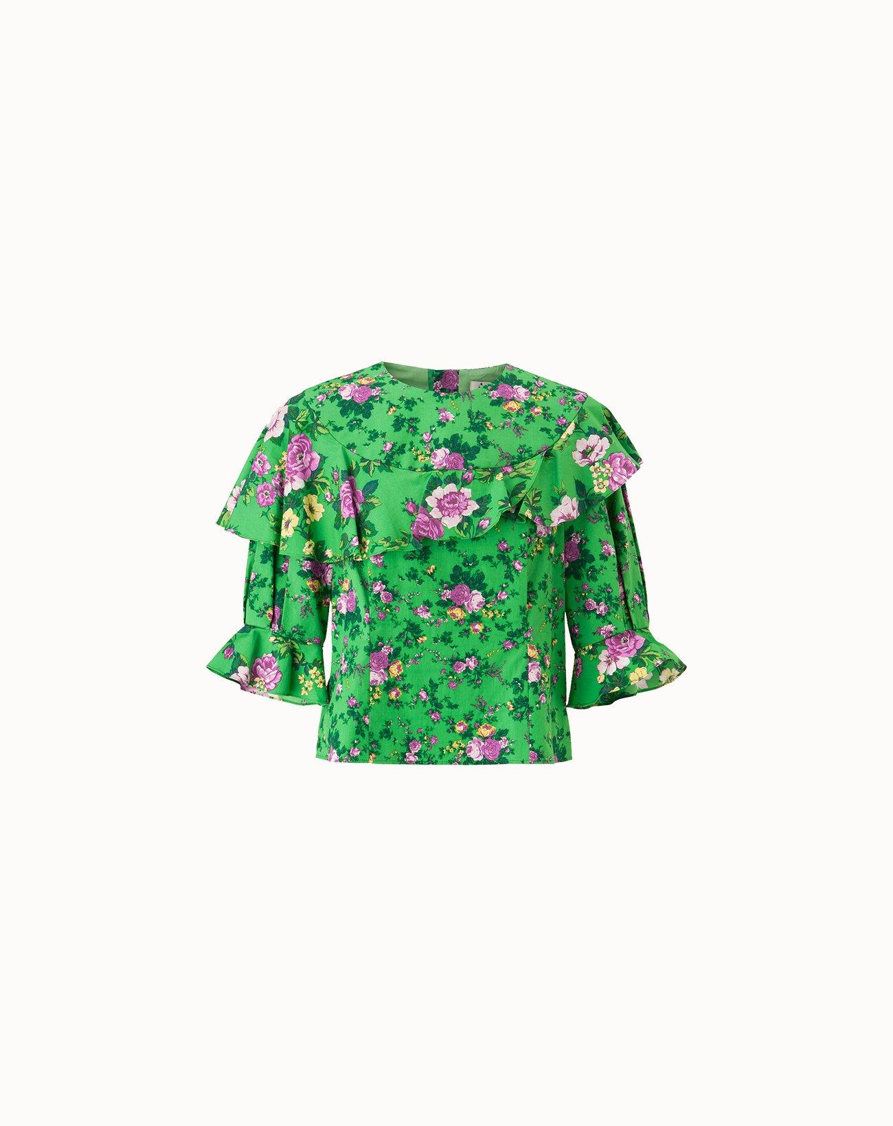 leur logette - Fairy Rose Top - Green