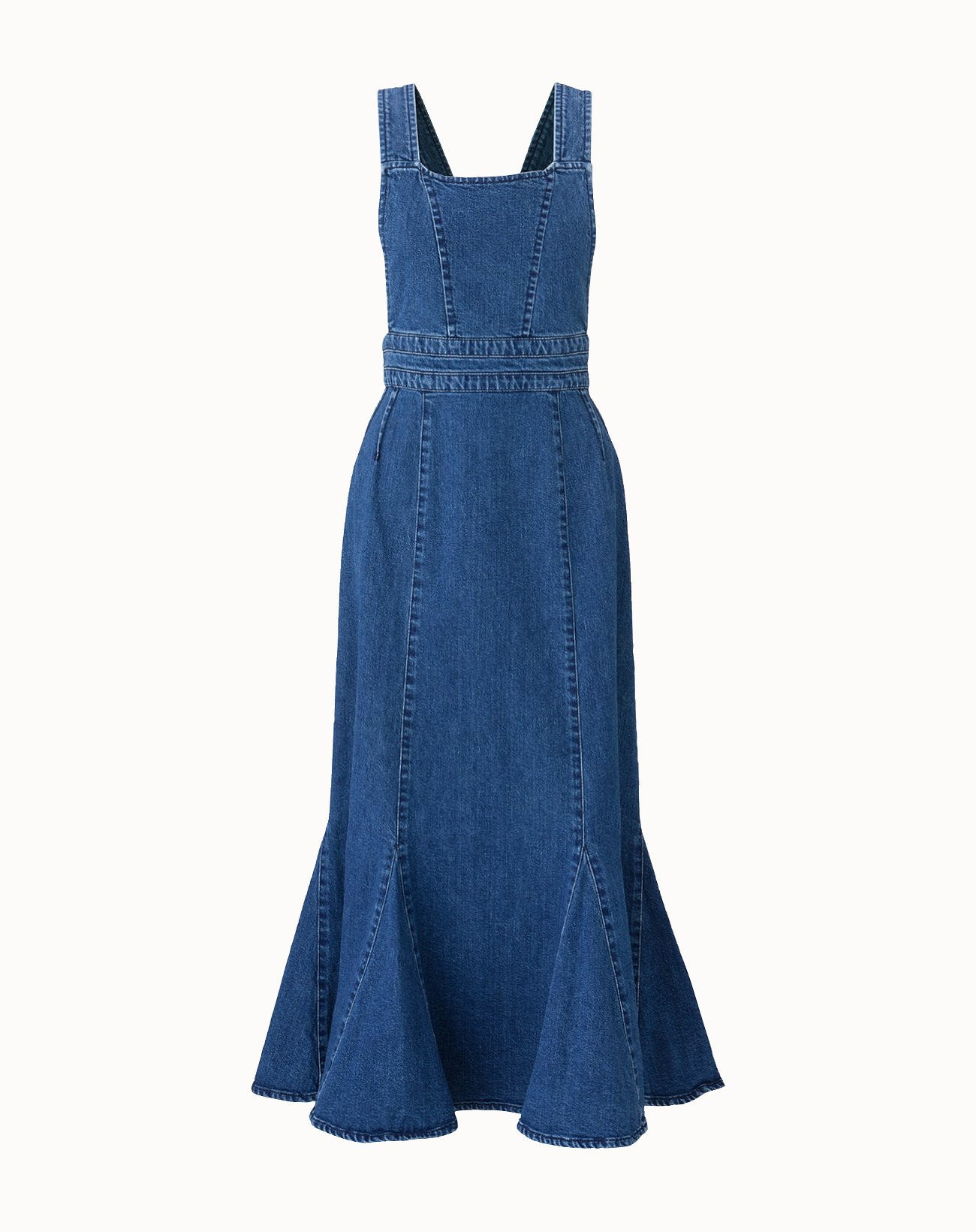 leur logette - 10OZ Stretch Denim Dress - Blue