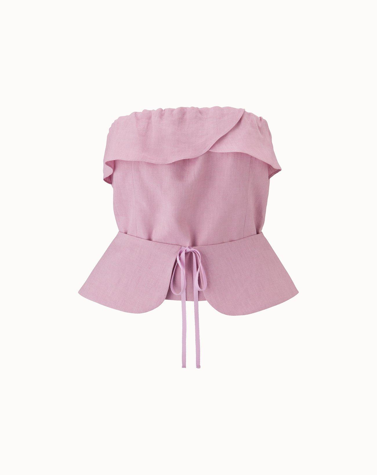leur logette - Irish Linen Top - Pink