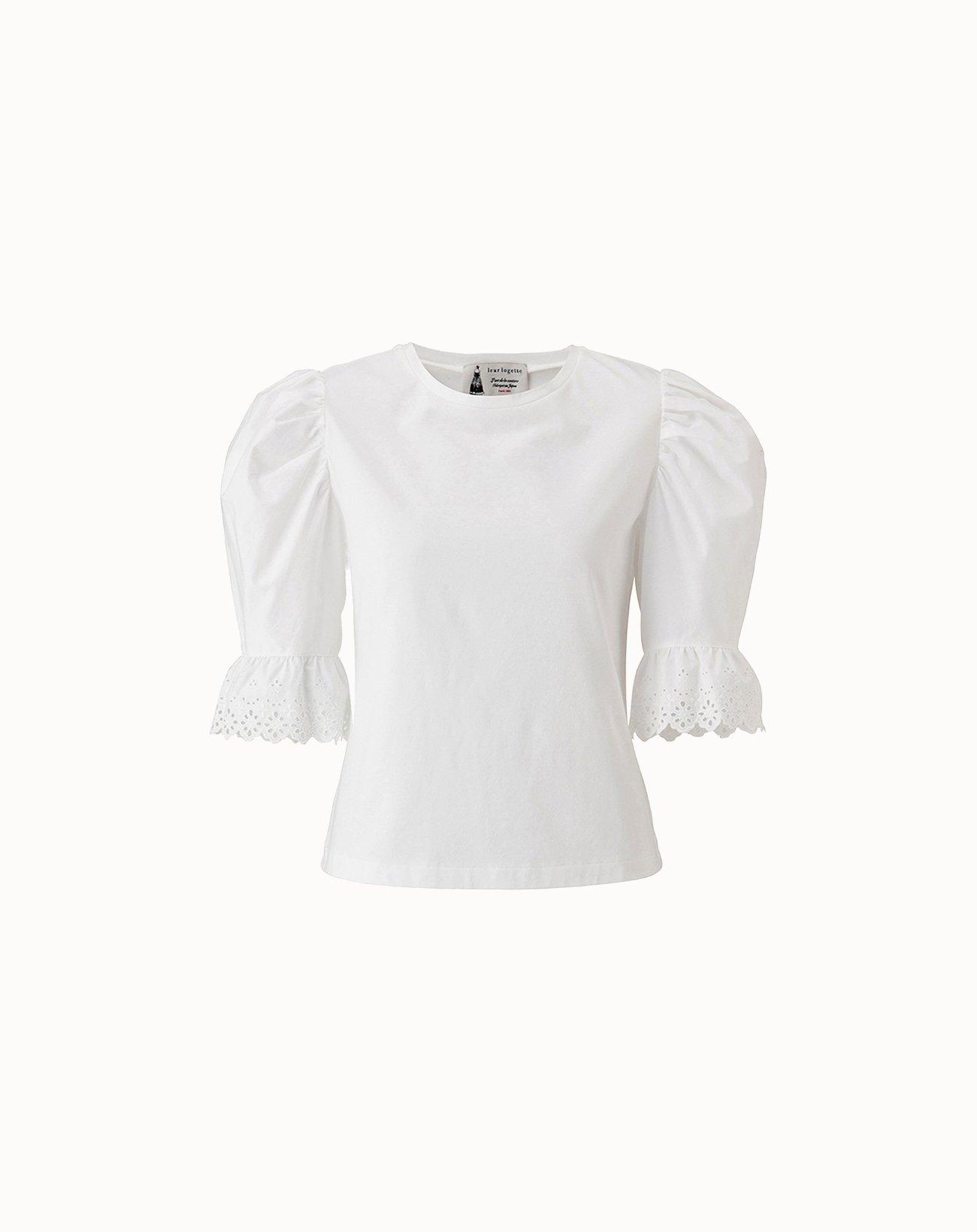 leur logette - Stretch Cotton Top - White