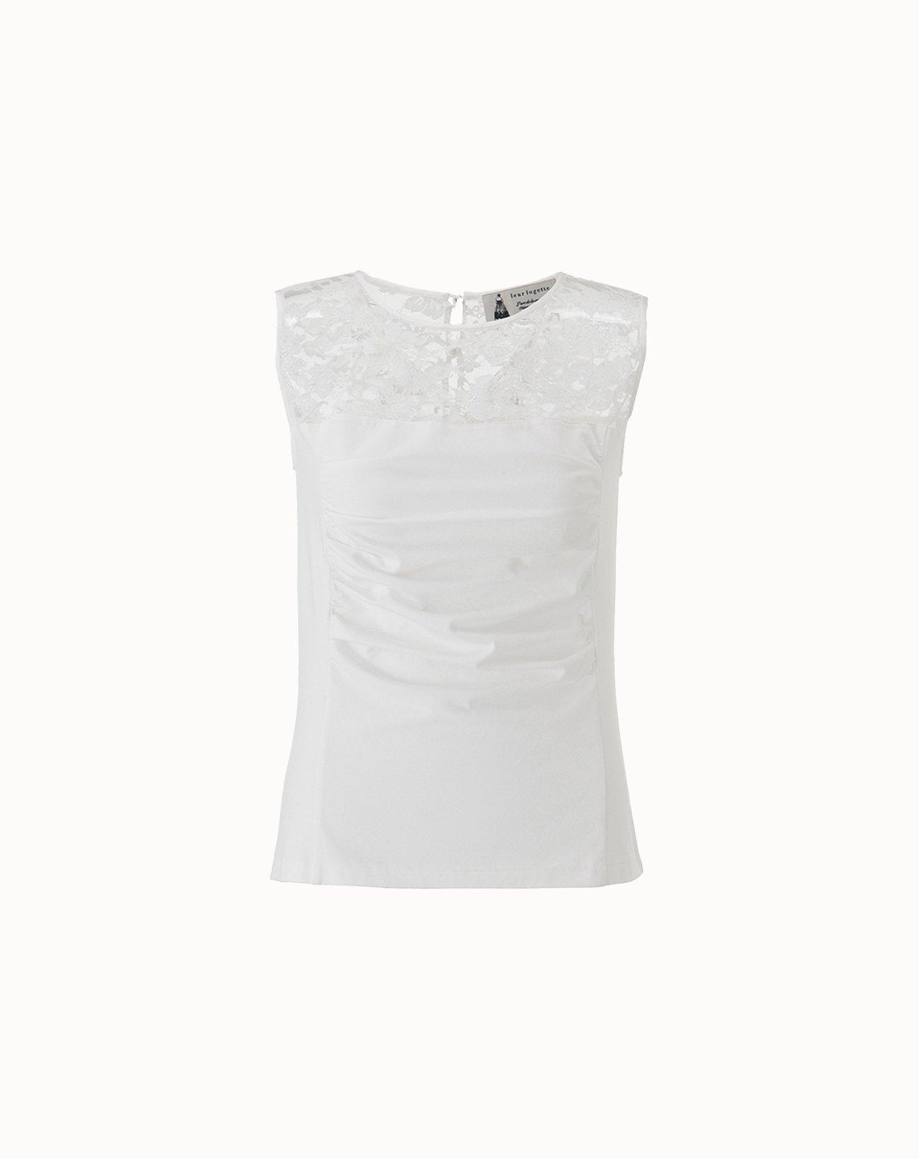 leur logette - Stretch Cotton Sleeveless Top - White