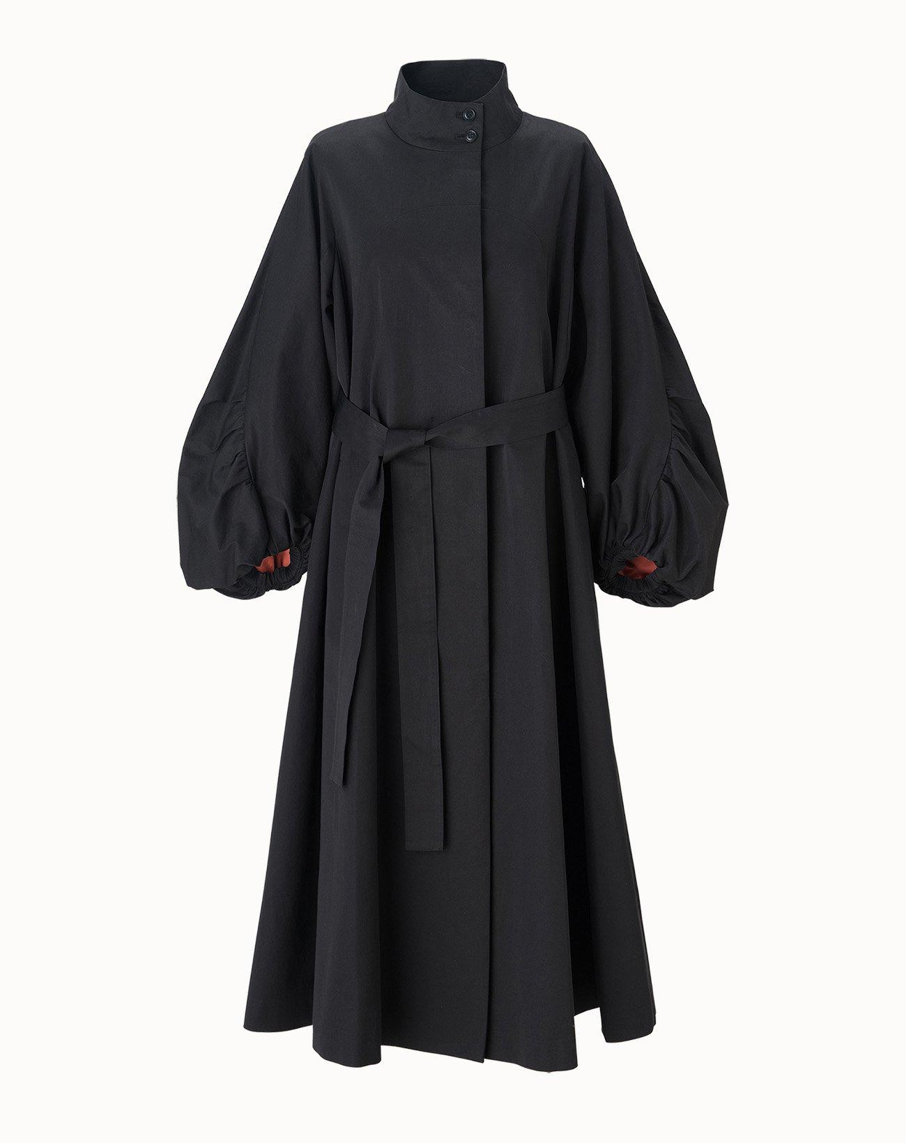 leur logette - Enigma Cotton Coat - Black