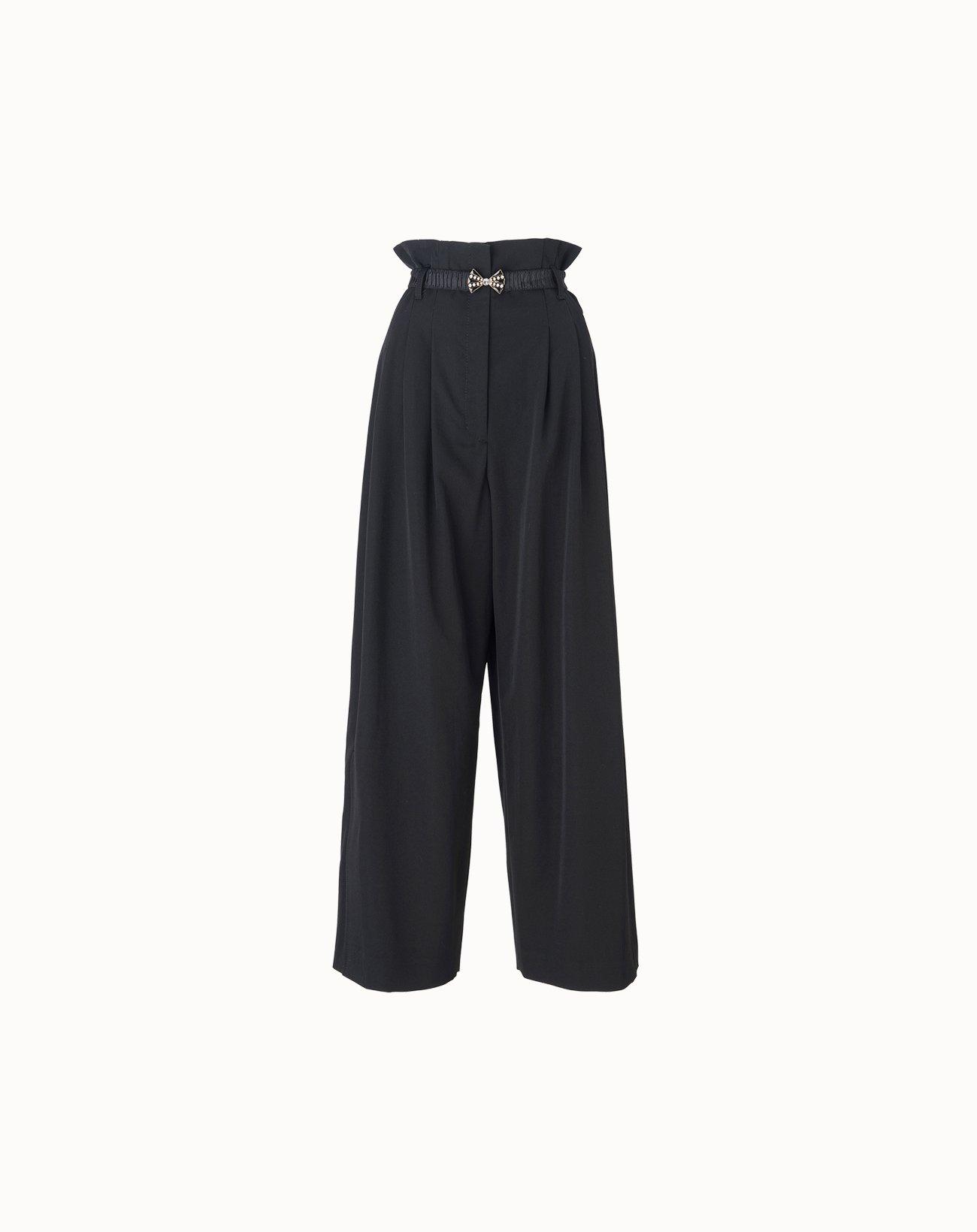 leur logette - Wonder Wool Wide Pants - Black