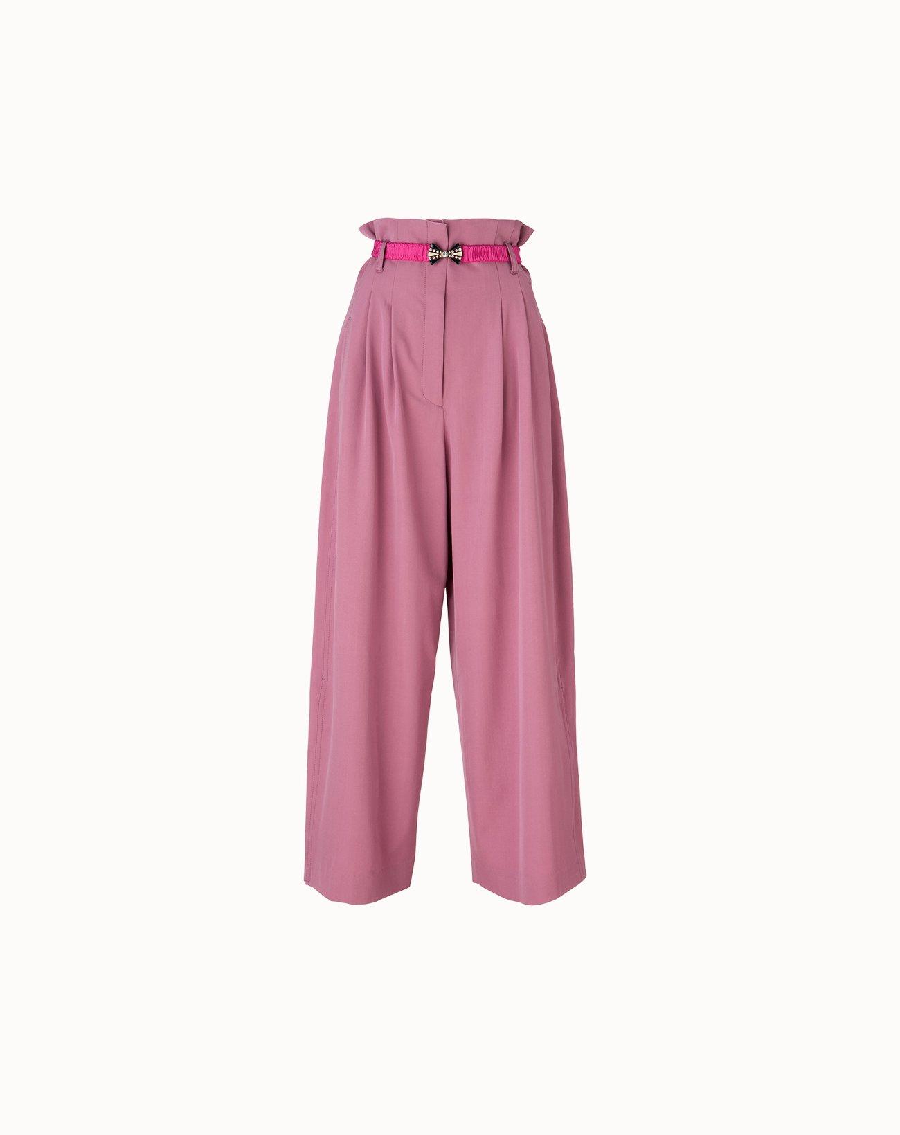 leur logette - Wonder Wool Wide Pants - Pink