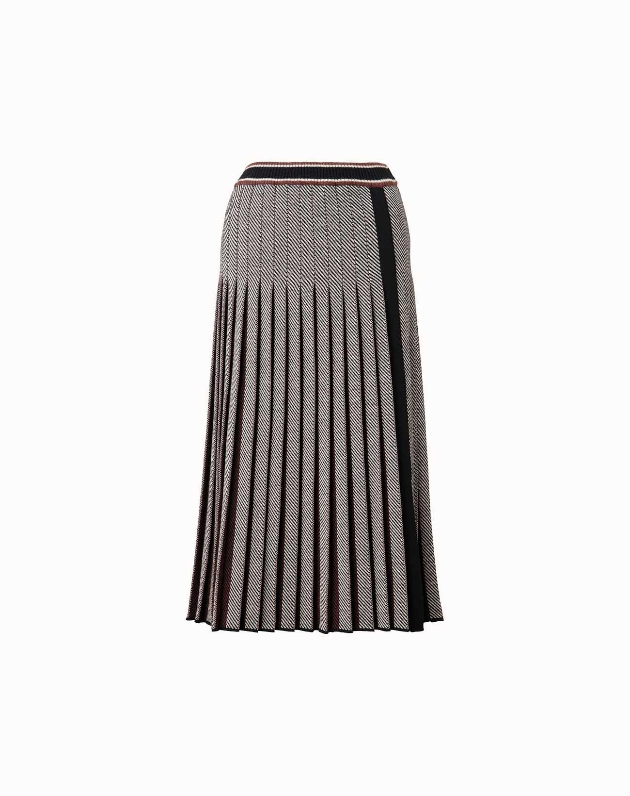 leur logette - Herringbone Wool Skirt - Black