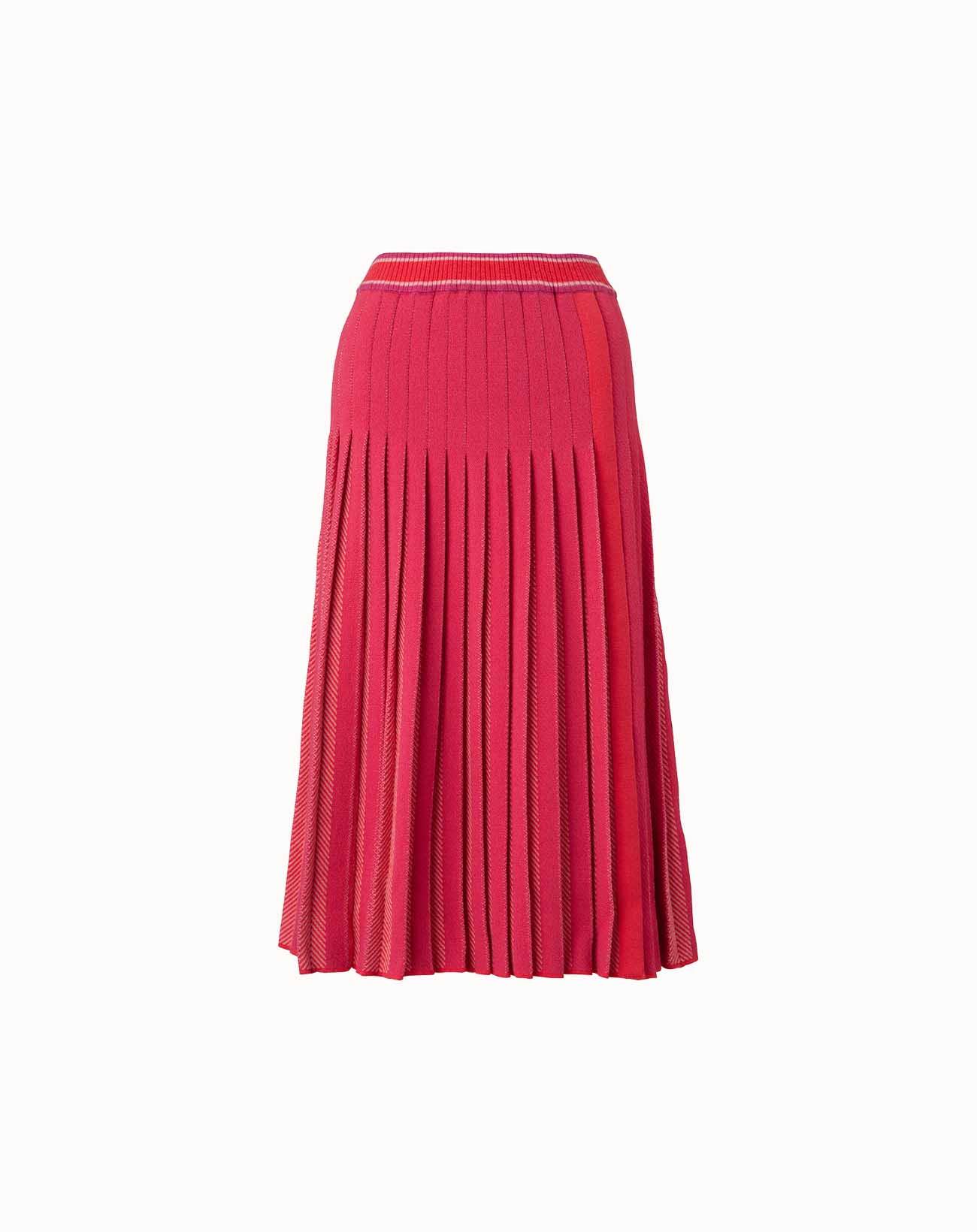 leur logette - Herringbone Wool Skirt - Pink