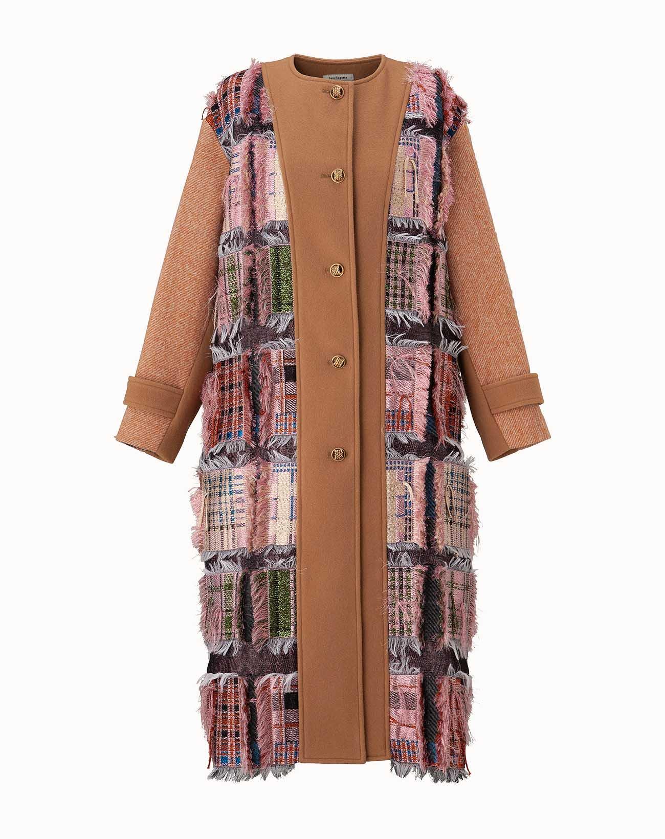 leur logette - Tweed Coat - Pink