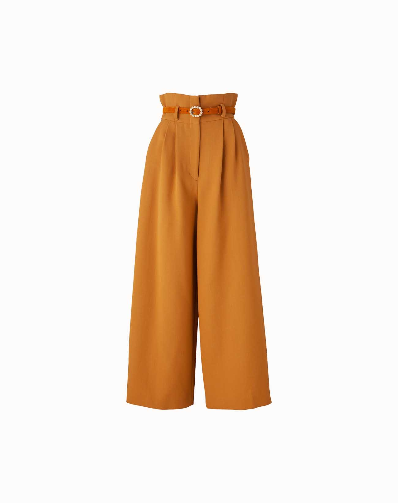 leur logette - Wool Triple Cloth Pants - Yellow