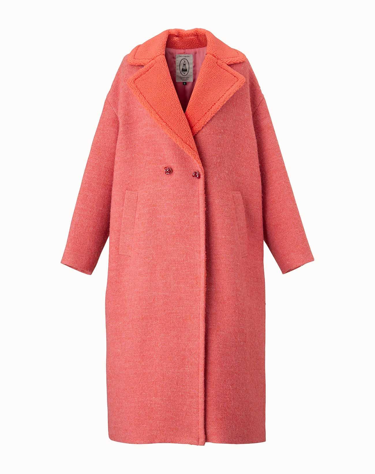leur logette - Camile Wool Coat - Pink