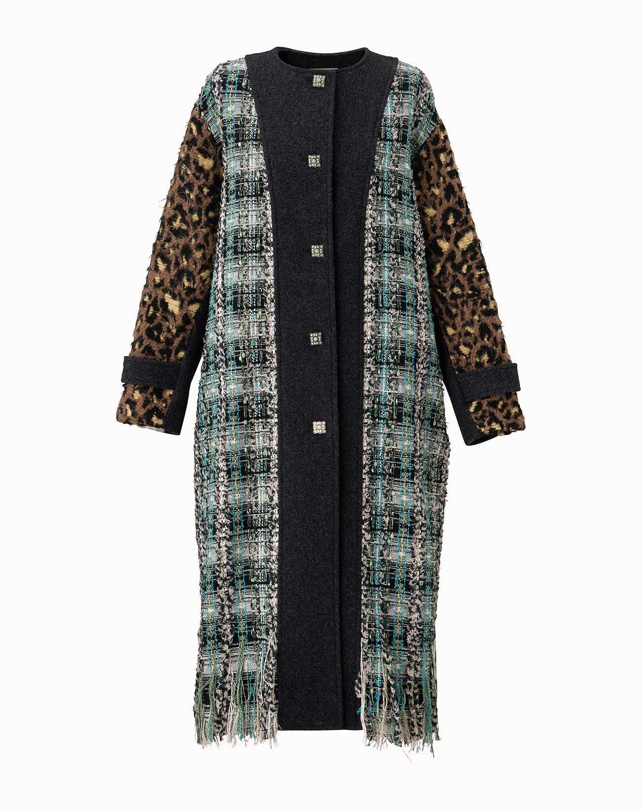 leur logette - Tweed Coat - Blue