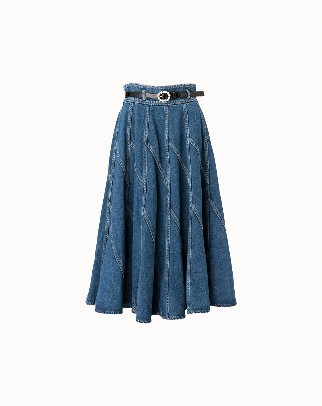 leur logette - 10 OZ Denim Skirt  - Blue