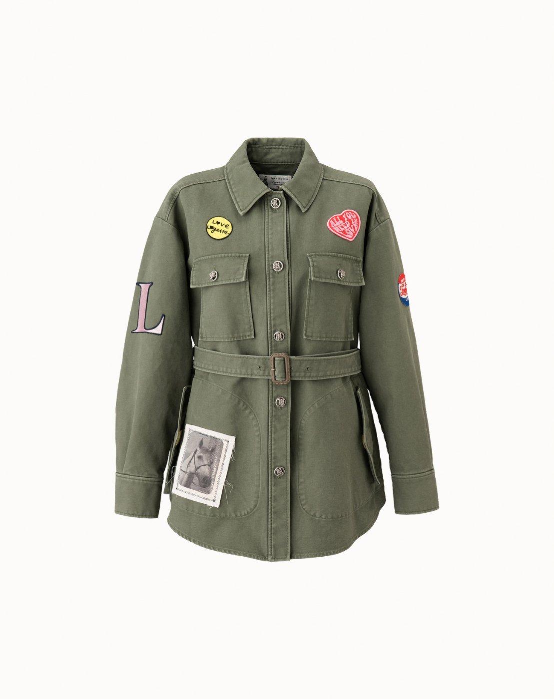 leur logette - Twill Double Cloth Jacket - Khaki