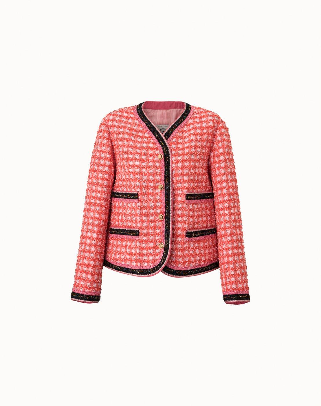 leur logette - ≪再入荷!!≫Apricot Tweed Jacket - Red
