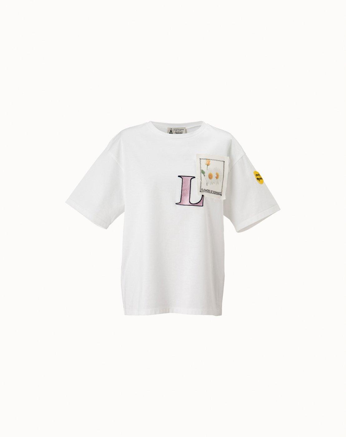 leur logette - Logo Patch T-shirt - White