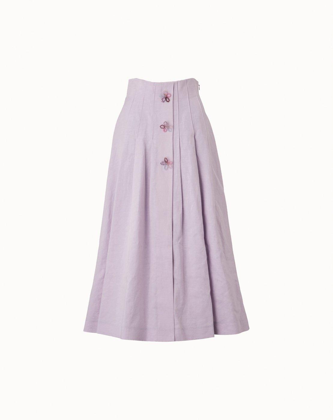 leur logette - Couture Linen Skirt - Lavender