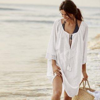 Beach CoverUp Shirts カバーアップブラウス ビーチスイムスーツ水着に