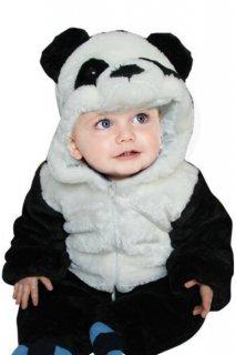 Baby panda romper 赤ちゃんキッズ 子供 厚手モコモコ パンダ ロンパース つなぎ オールインワン 着ぐるみ