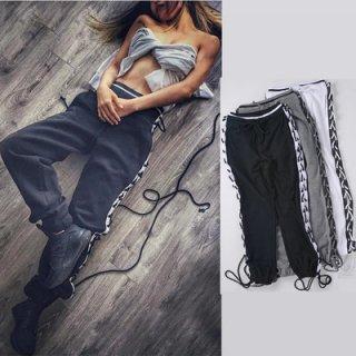 Lace-up Sweat Pants レースアップ編み上げスウェットパンツ