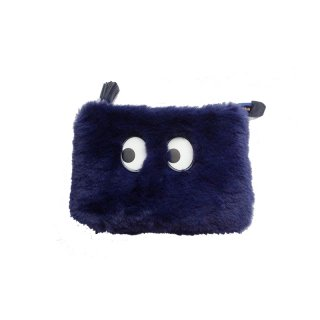women's Rabbit fur clutch shoulder bag 2waybag モコモコラビットファーパックマンゴーストクラッチショルダーバッグ