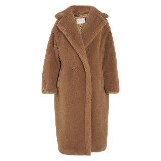 Women wool long fur Teddy Bear coat Jacket  ウールモコモコロング丈テディーベアコート ジャケット