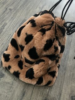 women's raccoon fur fox fur grass drawstring bucket bag リアルラクーン&フォックスファー巾着トートショルダーバック バックパック