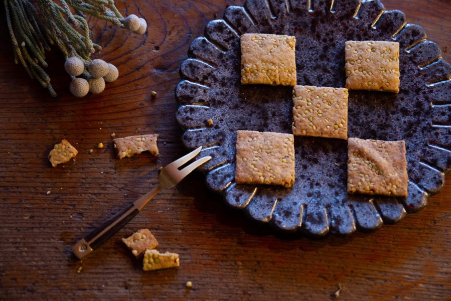 そばクッキー5枚入   地元無農薬栽培ソバを風味豊かに