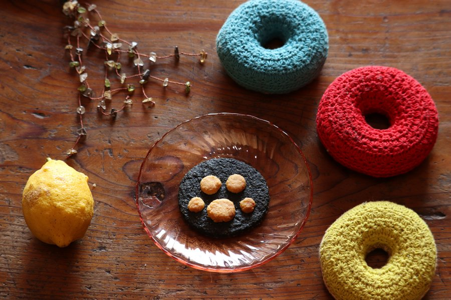 福よぶ招き猫クッキー 無農薬レモン皮ごと使用  安心おやつ
