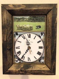 ボーダーコリー柄の時計