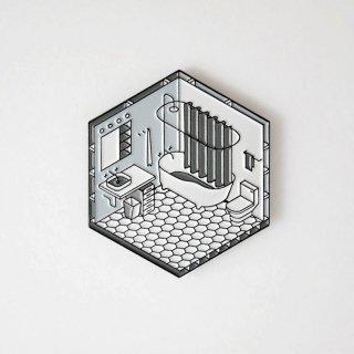 Isometric Bathroom Pin / Studio Cult