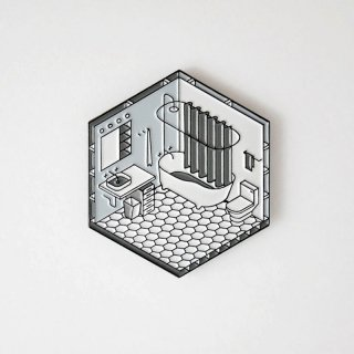Isometric Bathroom Pin / Studio Cult