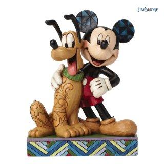 【JIM SHORE】ディズニートラディション:Mickey & Pluto【在庫有り】