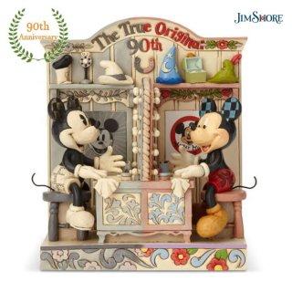 【再入荷予約】【JIM SHORE】ディズニートラディション:ミッキー 生誕90周年記念 フィギュア【代引・同梱不可】