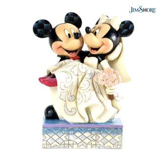 <img class='new_mark_img1' src='https://img.shop-pro.jp/img/new/icons13.gif' style='border:none;display:inline;margin:0px;padding:0px;width:auto;' />【JIM SHORE】ディズニートラディション:Mickey & Minnie Wedding【在庫有り】