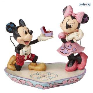 【JIM SHORE】ディズニートラディション:Mickey & Minnie Ring Dish