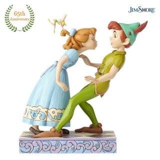 【JIM SHORE】ディズニートラディション:65周年記念モデル ピーターパン&ウェンディ キス
