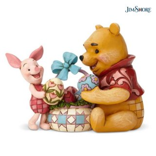 【JIM SHORE】ディズニートラディション:プー&ピグレット イースター【在庫有り】