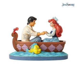 【JIM SHORE】ディズニートラディション:アリエル&エリック王子 ボート