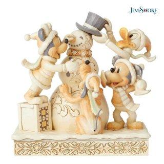 【取寄せ】【JIM SHORE】ディズニートラディション:ミッキー&フレンズ ホワイトウッドランド【代引・同梱不可】