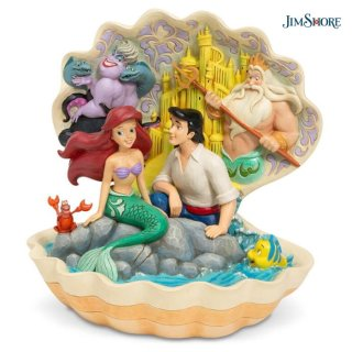 【JIM SHORE】ディズニートラディション:リトル・マーメイド シーシェル【在庫有り】