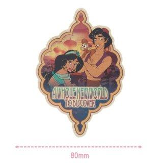 【Disney】ディズニートラベルステッカー: アラジン&ジャスミン
