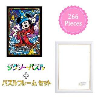 266ピース ジグソーパズル・フレームセット: ミッキーマウス ステンドグラス