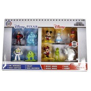 【U.S.A輸入商品】 Disney Nano Metalfigs:ディズニーピクサー・ミニフィギュアセット(10体セット)