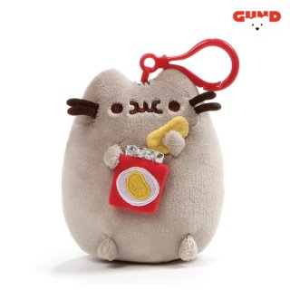 【GUND】プシーン キャット キーホルダー ウィズポテトチップ(在庫有り)