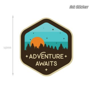 Art Sticker:PVC トラベルアートステッカー (Adventure Awaits)