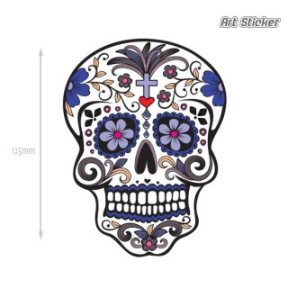 Art Sticker:POPアートステッカー (Day of the Dead)Blue