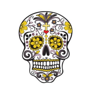 Art Sticker:POPアートステッカー (Day of the Dead)Yellow