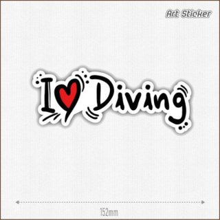 Art Sticker:PVC ステッカー (I Love Diving )