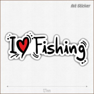 Art Sticker:PVC ステッカー ( I Love Fishing )
