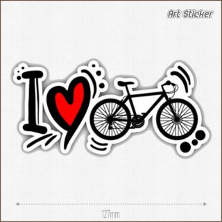 Art Sticker:PVC ステッカー ( I Love Cycling)