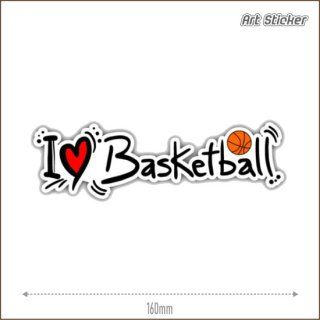 Art Sticker:PVC ステッカー (I Love Basketball)